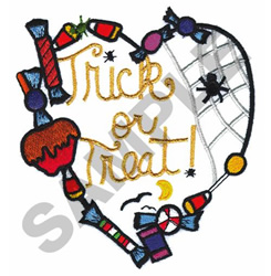 HALLOWEEN HEART embroidery design