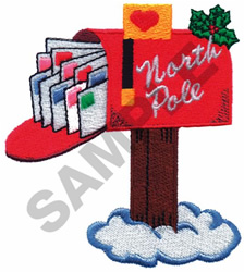 SANTAS MAILBOX embroidery design