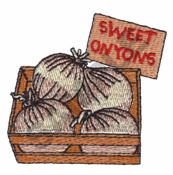 SWEET ONIONS embroidery design
