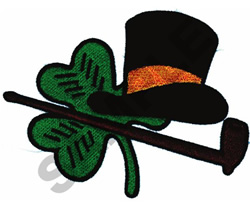 CLOVER & HAT embroidery design