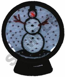 SNOWMAN GLOBE (GLASS) embroidery design