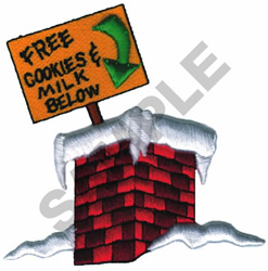 FREE COOKIES SIGN AND CHIMNEY embroidery design