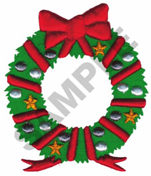 PUFFY FOAM CHRISTMAS WREATH embroidery design