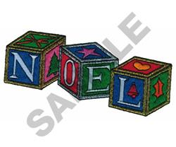 NOEL BLOCKS embroidery design
