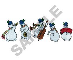 MUSICAL SNOWMEN embroidery design