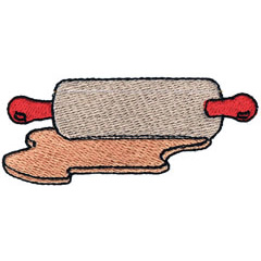 ROLLING PIN AND DOUGH embroidery design