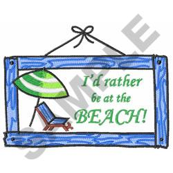 BEACH SIGN embroidery design