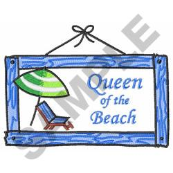 QUEEN OF THE BEACH embroidery design