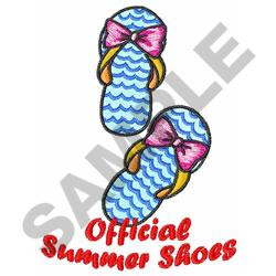 OFFICIAL SUMMER SHOES embroidery design