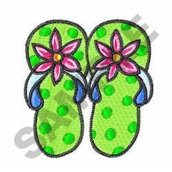 FLIP FLOPS embroidery design