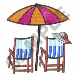 BEACH CHAIRS embroidery design