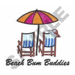 BEACH BUM BUDDIES embroidery design