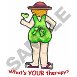 WHATS YOUR THERAPY? embroidery design
