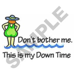 DOWN TIME embroidery design