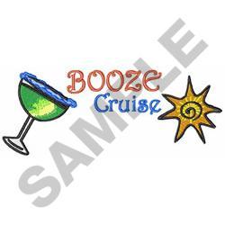 BOOZE CRUISE embroidery design