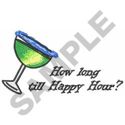 HAPPY HOUR embroidery design