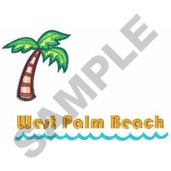 WEST PALM BEACH embroidery design
