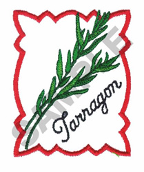 Tarragon Embroidery Design