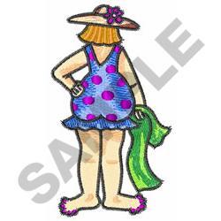 POLKA DOT LADY embroidery design