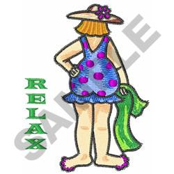 RELAX embroidery design