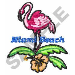 MIAMI BEACH embroidery design