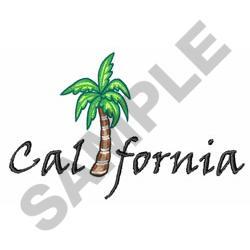 CALIFORNIA PALM embroidery design