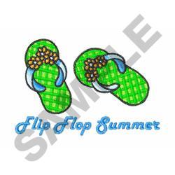 FLIP FLOP SUMMER embroidery design
