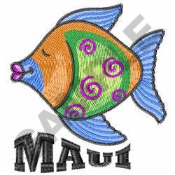 MAUI embroidery design