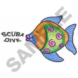 SCUBA DIVE embroidery design