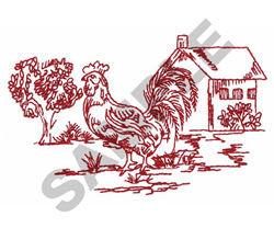 ROOSTER & HENHOUSE embroidery design