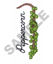 PEPPERCORN embroidery design
