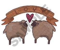 SHEEP LOVE embroidery design