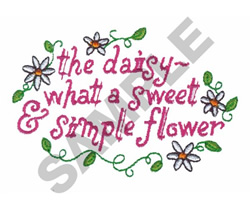 THE DAISY embroidery design