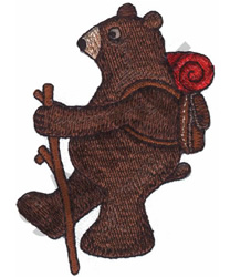 BEAR HIKING embroidery design