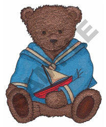 TEDDY WITH A BOAT embroidery design