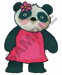 PANDA GIRL embroidery design