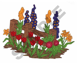 FLOWER BED embroidery design