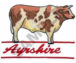 AYRSHIRE BULL embroidery design