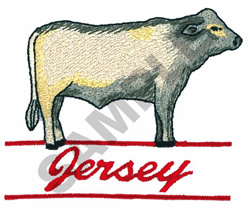 JERSEY BULL embroidery design