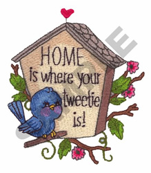 WHERE YOUR TWEETIE IS embroidery design