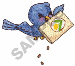 BIRD WITH BIRD SEED embroidery design