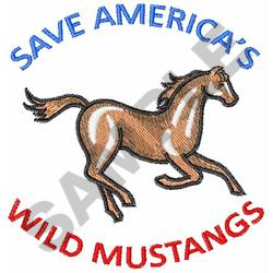 WILD MUSTANGS embroidery design
