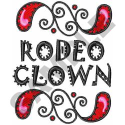 RODEO CLOWN embroidery design