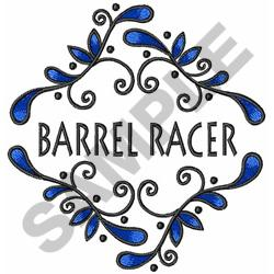BARREL RACER embroidery design