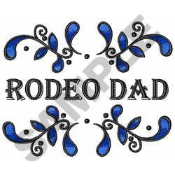 RODEO DAD embroidery design