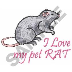 MY PET RAT embroidery design