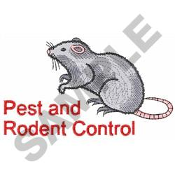 PEST AND RODENT CONTROL embroidery design
