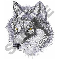 GRAY WOLF HEAD embroidery design