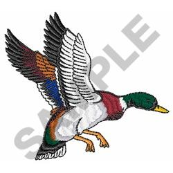 FLYING MALLARD DUCK embroidery design