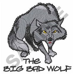 THE BIG BAD WOLF embroidery design